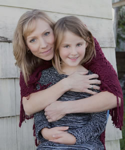 Kimberley with daughter Eve