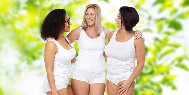 Women embracing body love